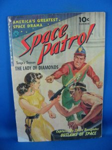 SPACE PATROL 1 VG+ FIRST ISSUE KRIGSTEIN RAY GUN COVER 1952
