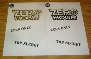 Zero Hour Ashcan #1 VF/NM eyes only - top secret - with rare gold variant