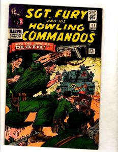 Sgt. Fury & His Howling Commandos # 31 VF Marvel Comic Book Hitler Nazis FM5