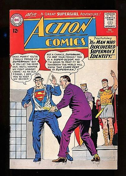 ACTION COMICS  #297  (1964)  8.0  OW/W PAGES HIGHER GRADE