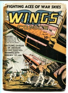 Wings #23 Golden-Age comic book 1942- Parachute Patrol- Skull Squad-