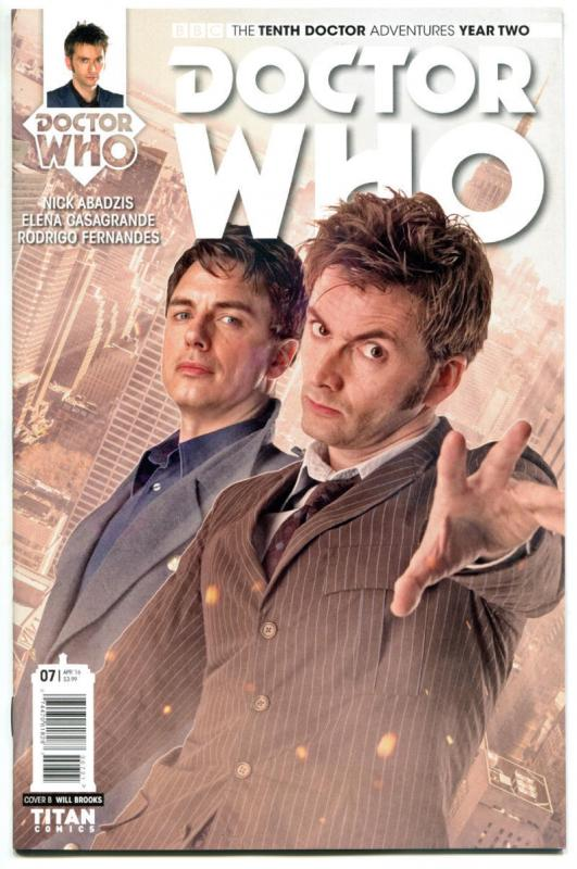 DOCTOR WHO #7 B, NM, 10th, Tardis, 2015, Titan, 1st, more DW in store, Sci-fi