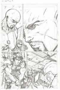 G.I. Joe #4 pg 5 ROADBLOCK QUICK KICK HASHTAG Pencil Art Steve Kurth
