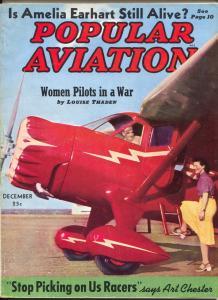 Popular Aviation 12/1939-photo cover-Amelia Earhart-warplanes-FN