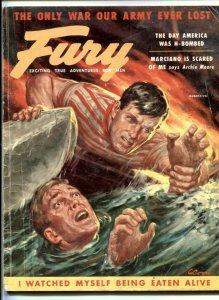 Fury Magazine August 1955- H-Bombs- Mata Hari- Constipation