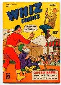 WHIZ COMICS #63 1945-VF-