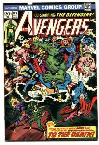 Avengers #118 1973- Captain America Defenders Marvel Comics VF