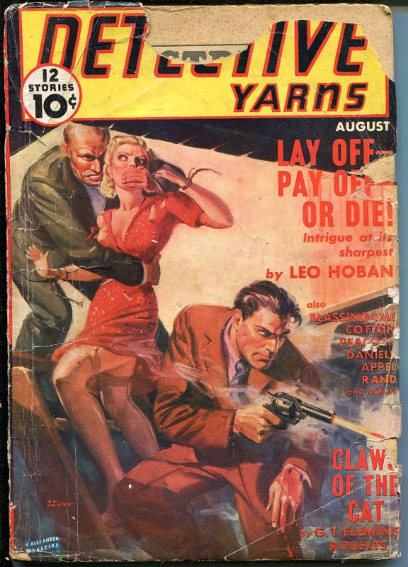 DETECTIVE YARNS 08/1939-WEIRD MENACE-SPICY-BOUND BABE-FLEMING-ROBERTS-good minus