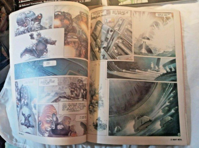 VTG Heavy Metal magazine Sci-Fi Feb 13, 1986 July 1989 Jan. 1990 Lot of 3 Rowena