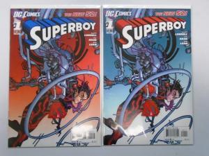 Superboy (DC 2011 5th Series) Set:#1A+B New 52 8.0/VF (2011)