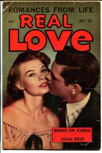 Real Love #62 1954-Ace-photo cover-spicy romance-provocative poses-VG