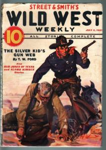 WILD WEST WEEKLY-7/3/1937-PULP-SILVER KID-ALAMO KIMBER VG