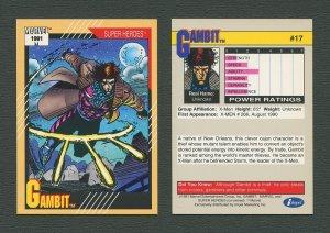 1991 Marvel Comics II  Card  #17 ( Gambit)  MINT