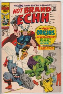 Not Brand Echh #3 (Oct-67) FN/VF Mid-High-Grade Thor, Hulk, Captain America