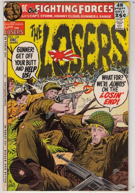 Our Fighting Forces #134 (Dec-71) VF+ High-Grade The Loosers