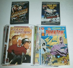 Flash Gordon, Phantom, comic book lot King Gold Key DC Ardden Star Dynamite DVD