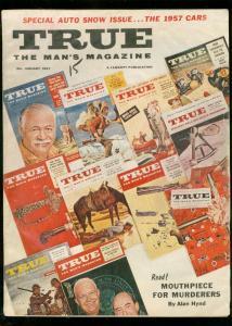 TRUE MAGAZINE JAN 1957-FAWCETT-SPECIAL AUTO SHOW ISSUE VG