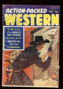 ACTION-PACKED WEST-PULP-1/1958-WILD BILL HICKOCK-CUSTER-very good VG