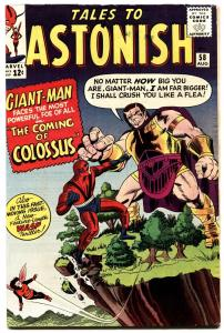 TALES TO ASTONISH #58-GIANT-MAN/WASP-SILVER AGE MARVEL! FN