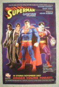 SUPERMAN LAST SON Promo Poster, 11x17, 2007, Unused, more Promo in store, E&