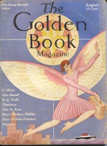 Golden Book 8/1929-Boris Artzbasheff-pulp fiction-Skippy-Percy Crosby-VG