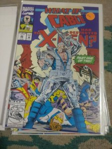 What If...? # 46  1993  Marvel WHAT IF  CABLE HAD DESTROYED THE X MEN  PT 1