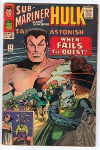 Tales to Astonish #74 (Dec-65) FN/VF Mid-High-Grade Incredible Hulk, Namor th...