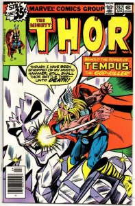 THOR #282 VF/NM God of Thunder Tempus Killer 1966 1979, more Thor in store
