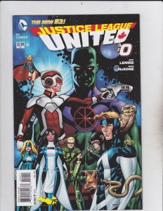DC Comics! Justice League United! Issue 0!