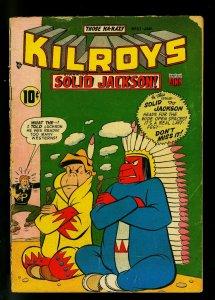 Kilroys #51 1954- Golden Age Humor- Solid Jackson- F/G