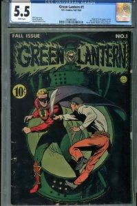 CGC 5.5 Green Lantern #1 1941 Origin Issue Alan Scott Golden Age