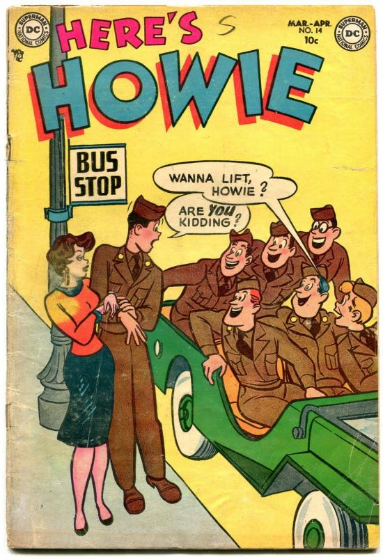 Here's Howie #14 1954- DC Golden Age Humor- Jeep cover VG
