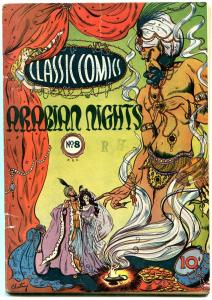 Classic Comics #8 1st edition 1943- Arabian Nights- Lilian Chestney cover VG+