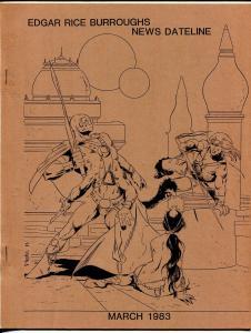 Edgar Rice Burroughs News Dateline 3/1983-Tarzan-Roy Krenkel tribute-VF