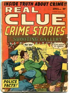 REAL CLUE CRIME STORIES V6 #2, VG-, 1951, Golden Age, Pre-code, more in store