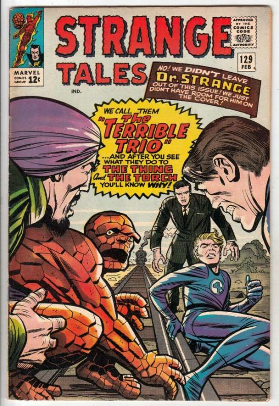Strange Tales #129 (Feb-65) VF+ High-Grade Human Torch, the Thing, Doctor Str...