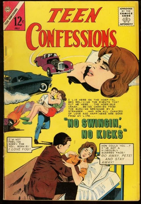 TEEN CONFESSIONS #29-INJURED WOMAN COVER-CHARLTON FN