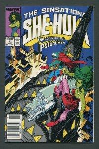 She-Hulk #11  /  9.0 VFN/NM   Newsstand  January 1990