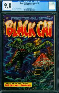 Black Cat Mystery #51 CGC 9.0 Sick Pre-Code Horror 2000075003