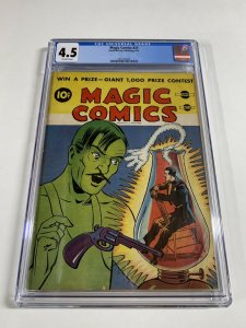 Magic Comics 23 Cgc 4.5 Ow Pages David Mckay Publishing Golden Age