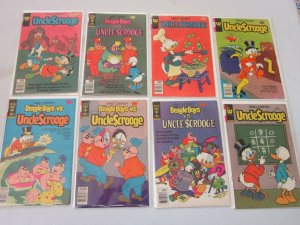 Uncle Scrooge Disney Comic Lot 40 and 50 Cent Covers 8 Different Books