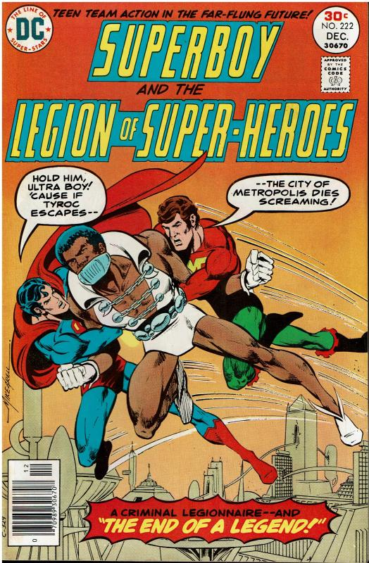Superboy and the Legion of Super Heroes #222, 9.0 or better