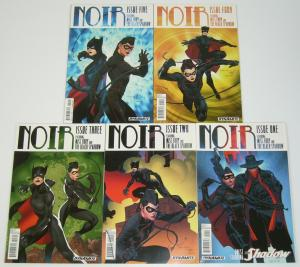 Noir #1-5 FN/VF complete series - miss fury - black sparrow - the shadow 2 3 4