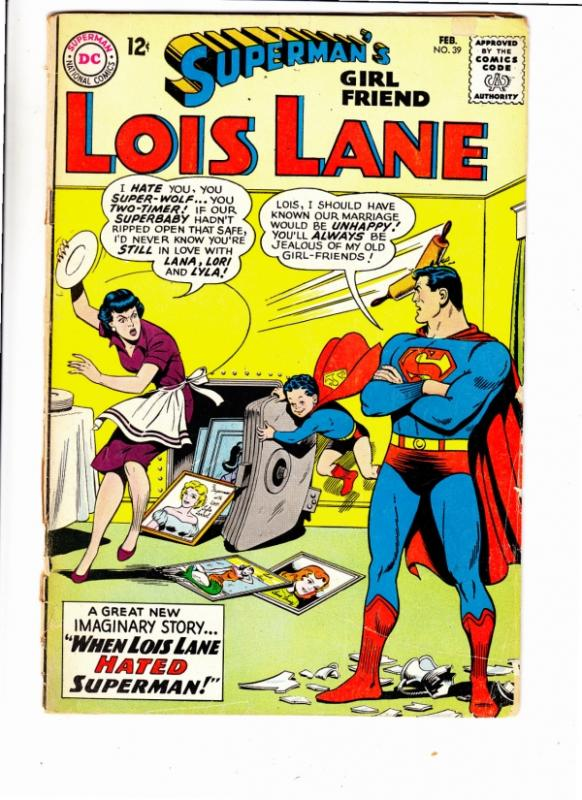 Lois Lane, Superman's Girlfriend  #39 (Feb-63) VG- Affordable-Grade Superman,...
