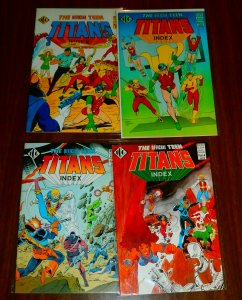 Official Teen Titans Index   #1,2,4,5 (set of 4)