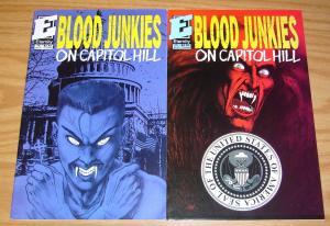 Blood Junkies on Capitol Hill #1-2 VF complete series - eternity comics set lot