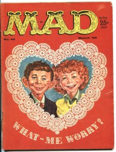 MAD #45 ALFRED E NEUMAN Valentine cover Wally Wood VG