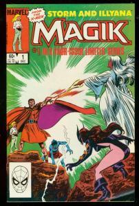 MAGIK #1 1983-STORM & ILLYANA-XMEN-MARVEL COMICS-DIRECT VF/NM