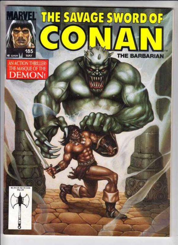Savage Sword of Conan #185 (May-91) NM- High-Grade Conan