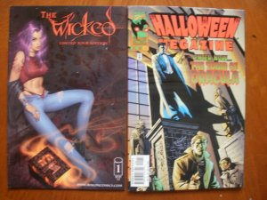 2 Comic: THE WICKED (Limited Edition #1 & Marvel HALLOWEEN MEGAZINE Dracula Tomb